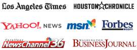 Los Angeles Times, Houston Chronicle, Yahoo! News, MSN Money, Forbes, NBC6, Washington Business Journal